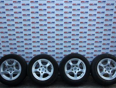 Set jante aliaj cu anvelope de vara 195/65 R15 BMW Seria 3 E46 1998-2005