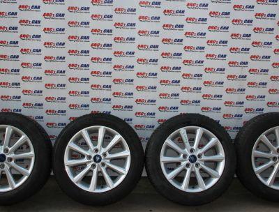 Set jante aliaj cu anvelope M+S 205/55 R16 Ford Focus 3 2012-2018 F1EC-B1B