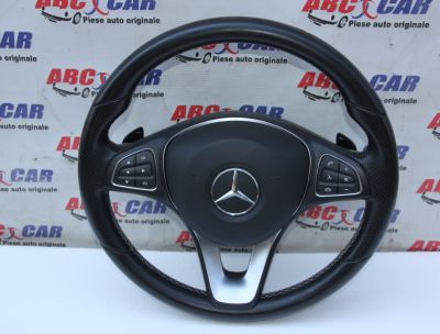 Volan din piele cu comenzi si padele Mercedes A-Class W176A0014609503