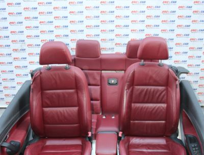Interior visiniu din piele VW Eos (1F) 2006-2015