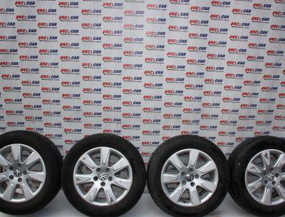 Set jante aliaj R16 VW Passat B6 2005-2010, 7JX16H2, ET45 cod: 3C0601025A