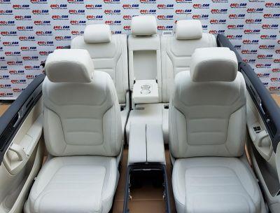 Interior complet din piele alba full electric cu memorie VW Touareg (7P) 2010-2018