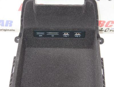 Buzunar depozitare cu panouUSB/SIM/SD Audi A74K2018-prezent4N0035736A