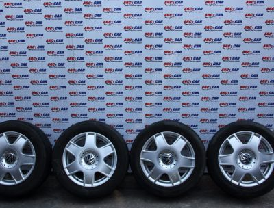 Set jante aliaj 5X100 cu anvelope de vara R16 VW Bora (1J) 1999-2005 1J0601025H