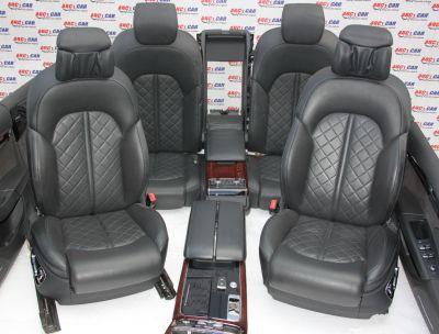 Interior din piele (cu ventilatie, memorii + incalzire) Audi A8 4H 2010-2016