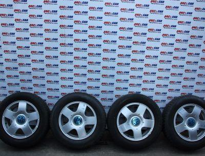 Set jante aliaj 5X100 cu anvelope de iarna 195/65 R15 VW Bora (1J) 1999-20051J0601025B