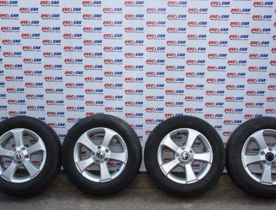 Set jante aliaj cu anvelope de iarna BRIDGESTONE 195/65 R15 VW Golf 6 2009-20131T1071495A
