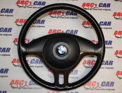 Volan din piele+mahon cu airbag BMW Seria 3 E46 1998-2005