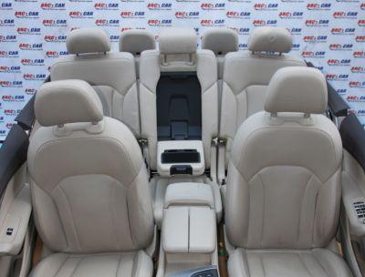 Interior din piele crem full electric cu memorii (7 locuri) Audi Q7 4M 2016-prezent