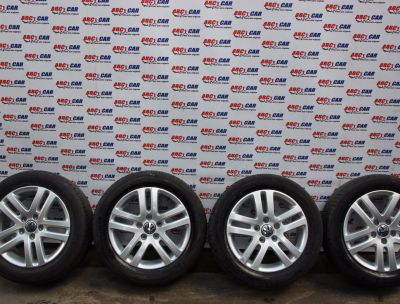 Set jante aliaj cu anvelope de vara HANKOOK 205/55 R16 VW Golf 6 2009-2013 1K06010255BM