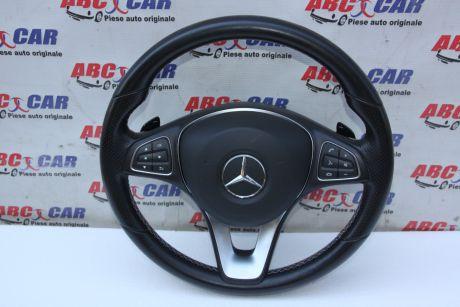 Volan din piele cu comenzi si padele Mercedes CLA-Class C177 A0014609503