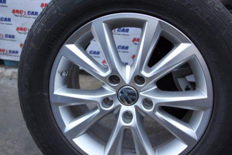 Set jante aliaj cu anvelope de vara 255/55 R18 VW Touareg 7P 2010-2018 7P6601025C