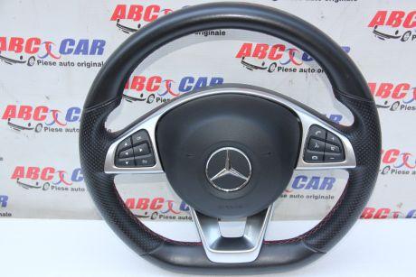 Volan din piele cu comenzi Mercedes C-Class W205 2014-prezentA0004603303